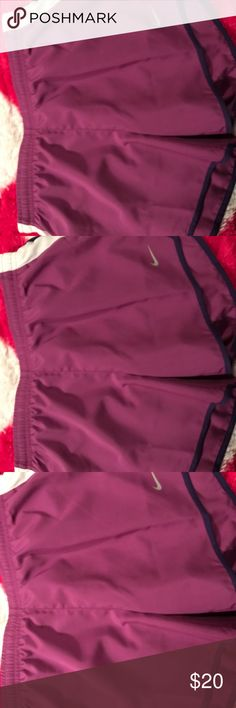 Nike shorts nwot Nike shorts size L nwot has built in panties inside them I'm a med and I can't get them up on me would fit a small better Nike Other
