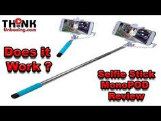 Extendable Wired Remote Shutter Handheld Selfie Stick Monopod Review Thi...