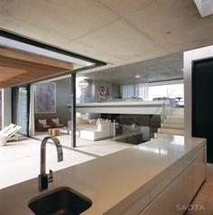 contemporist - modern architecture - saota - voelklip house - hermanus - south africa - interior view - living room