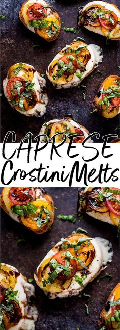 These garlic Caprese crostini melts are a crowd-pleasing appetizer with the classic Caprese flavors of mozzarella, tomatoes, and basil. Finished off with a tangy balsamic drizzle!