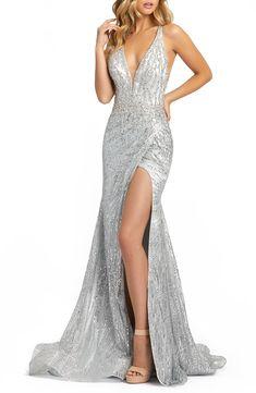 Long Sparkly Dresses, Long Sequin Dress, Grey Prom Dress, Fitted Prom Dresses, Sequin Prom Dresses, Pretty Prom Dresses, Sequin Gown, Grey Formal Dresses, Senior Prom Dresses
