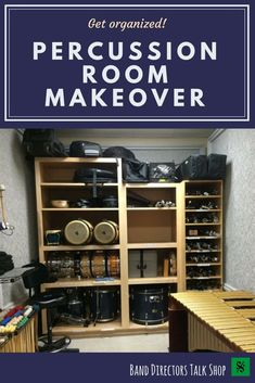 Does your band hall need a percussion room makeover? This article has pictures with great ideas of budget friendly ideas to keep percussion equipment safe. Drum Room, Drum Pad, Band Director, Music Lesson Plans, Drum Lessons, Piano Teaching, Elementary Music, Upper Elementary, Music Classroom