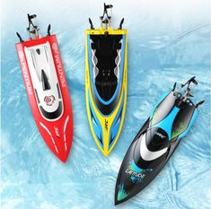 Water Toy Remote Controlled 180 Degree Flip High Speed Electric RC Racing Boat for Pools,Lakes and Outdoor Adventure Remote Control Boat, Radio Control, Rc Boot, Boat Battery, Toy 2, Water Toys, Water Cooling, Rc Model, Speed Boats