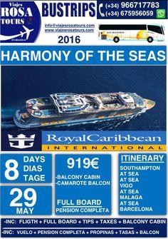 Crucero especial, con vuelos incluidos!! www.viajesrosatours.com info@viajesrosatours.com (+34)966717783  (+34)675956059