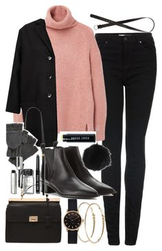 """""""Outfit for winter with a pink sweater"""" by ferned on Polyvore featuring Topshop, MANGO, ASOS, Forever 21, Acne Studios, H&M, Nirvanna Designs, Bobbi Brown Cosmetics, Marc by Marc Jacobs and women's clothing"""