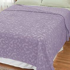 429-114 - North Shore Linens™ ''Scroll'' Cotton Chenille Bedspread