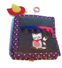 Check out this item in my Etsy shop https://www.etsy.com/listing/594488866/personalized-quiet-book-senzorial-toy