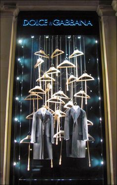 ♂ Retail space Commercial design Dolce Gabbana :: Hanger Widow Display