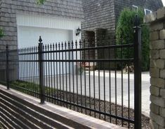Nice Metal Fence with Decorative Top Finials