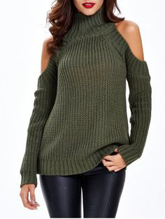 GET $50 NOW | Join RoseGal: Get YOUR $50 NOW!http://www.rosegal.com/sweaters/textured-cold-shoulder-sweater-675655.html?seid=6821068rg675655