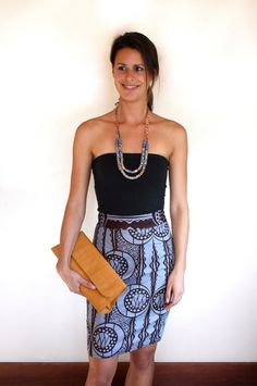 High Waist Woodin Pencil Skirt by DuafeDesigns on Etsy, $35.00