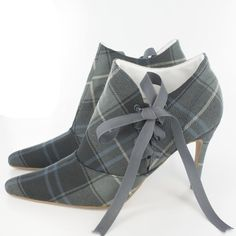 Kylie Side Fastening Boots in Patriot Weathered Tartan