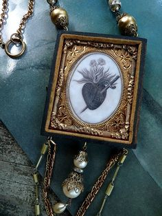 Ex Voto Victorian Reliquary Assemblage Necklace ... The Guardian Angel ... By Rustic Gypsy www.etsy.com