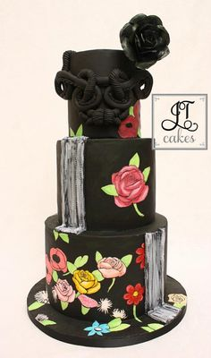 Black Fashion Cake - Cake by JT Cakes