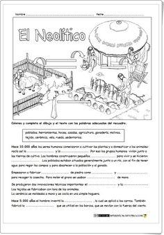 """""""El Neolítico"""" (Ficha de Historia de Primaria)"""