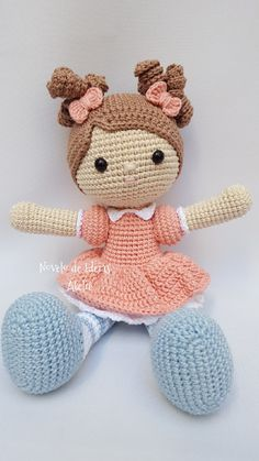 Knitted Doll Patterns, Crochet Bunny Pattern, Easy Crochet Patterns, Knitted Dolls, Love Crochet, Amigurumi Patterns, Amigurumi Doll, Crochet Dolls, Crochet Baby Toys