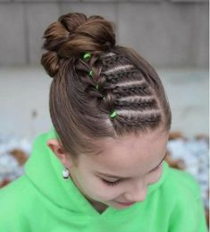 For Isabelle's hair - Kinderfrisuren Girls Hairdos, Baby Girl Hairstyles, Cute Hairstyles, School Hairstyles, Everyday Hairstyles, Teenage Hairstyles, Braided Hairstyles Updo, Wedding Hairstyles, Updo Hairstyle