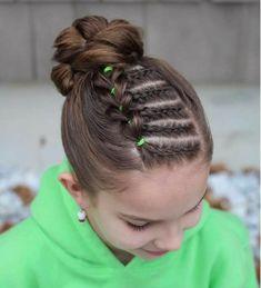 For Isabelle's hair - Kinderfrisuren Girls Hairdos, Baby Girl Hairstyles, Princess Hairstyles, Braided Hairstyles, Wedding Hairstyles, Updo Hairstyle, School Hairstyles, Braided Ponytail, Everyday Hairstyles