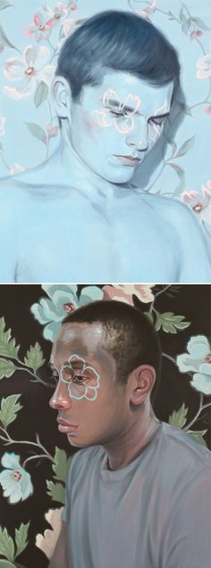 kris knight - florals with the masculine form mmmm