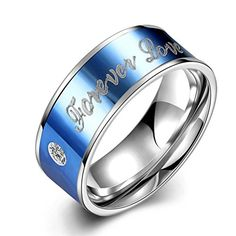 """* Penny Deals * - IVYRISE Stainless Steel Couple Rings """"Forever Love"""" Wedding Engagement Ring Band Eternity CZ Bridal Sets with Free Gift Bag >>> Check this awesome product by going to the link at the image."""