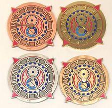 Zodiac clock set of four Steampunk style geocoins