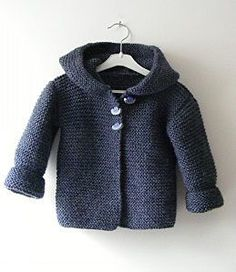 Baby Knitting Patterns Ravelry Hooded Baby Jacket By Mme Bottedefoin - Free Knitted Pattern - (ravelry) Knitting For Kids, Crochet For Kids, Knit Crochet, Free Crochet, Crochet Cardigan, Free Knitting, Crochet Baby Jacket, Knit Baby Sweaters, Knitted Baby Clothes