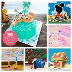 25 Disney Junior Crafts & Printables - Jake and the Neverland Pirates, Handy Manny, Doc McStuffins & more! |#Disney