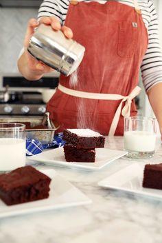 Dark Chocolate Guinness Brownies//joy the baker