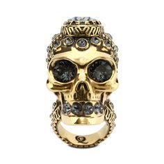 Victorian Jeweled Skull Ring Alexander McQueen   Ring   Jewelry  