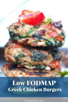 Frugal Food Items - How To Prepare Dinner And Luxuriate In Delightful Meals Without Having Shelling Out A Fortune Low Fodmap Greek Chicken Burgers Fodmap Recipes, Healthy Recipes, Fodmap Foods, Fodmap Meal Plan, Clean Eating, Greek Chicken, Chicken Recipes, Molecular Gastronomy, Plated Desserts