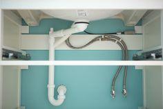IKEA vanity base plumbing installation