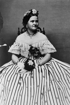Mary Todd Lincoln's floral headband - one of 12 of the most powerful hairstyles of all time