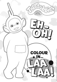 Crayons at the ready! You can now colour-in #LaaLaa with this fantastic #colouring sheet!
