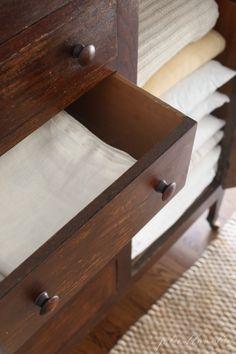 Our linen cabinet