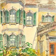 Spadina House.  Toronto.  Plein air watercolour sketch  dorothy marczinko's Gallery