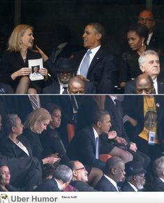 LOL   Barack Obama with Danish prime minister Helle Thorning-Schmidt
