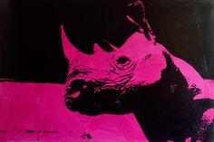 Rhino 120x80 acrilico su tela