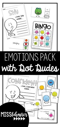 Teach emotional literacy and feelings identification in fun, visual, and engaging ways through games like Bingo, I Have Who Has, and Write the Room! Self Esteem Activities, Emotions Activities, Counseling Activities, Learning Activities, Emotional Books, Social Emotional Learning, Social Skills, Feelings Words, Feelings And Emotions
