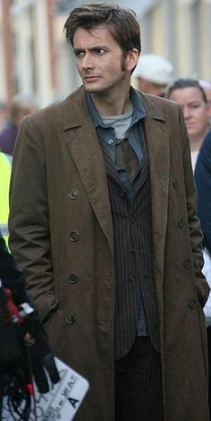 David Tennant on set