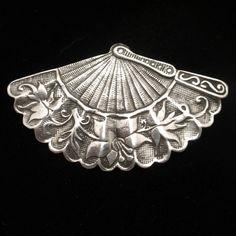 Fan Pin Vintage Sterling Silver