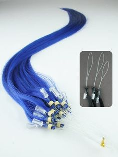 20 Blue 20 Strands Remy Micro Loop Bead Ring Hair Extensions for Human or Pet by MyLuxury1st. $19.99. Ask your stylist how many strands you need to complete your style.  Make sure you are buying quality hair shipped and sold by MyLuxury1st