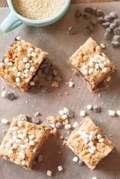 A peanut butter twist on a classic flavor! S'mores Peanut Butter bars are rich, fudgy and delicious! lemonsforlulu.com