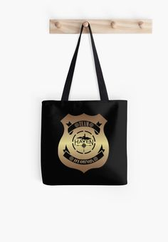 Haven Syfy Inspired Tote Bag |  Haven Team Wuornos Gold Police Badge Logo