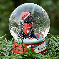 [EUR € 30.07]  - Beau bouledogue français décoratif boule de cristal cadeau d'ornement de Noël pour animaux amoureux