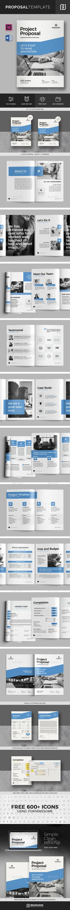 Proposal Templates, Stationery and Proposals - free project proposal template