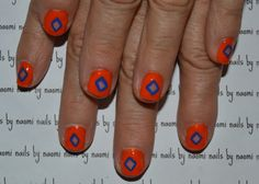 As you guys have probably noticed, I'm really into negative space lately. This is a fairly easy way to get into the trend. After cleaning, filing, and shaping the nail and applying a base coat: 1. use a striping brush and some bright orange polish to...