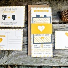 3 Easy Ways to Personalize Wedding Invitations (image: wide eyes design)