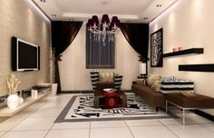 How to Decorate Tv on The Wall Ideas: Wonderful View  Ideas Gorgeous Living Room Decoration Ideas With Luxury Curtain And Modern Tv Wall Unit Remarkable Tv Unit Design Ideas For Cool Interior ~ articature.com Decorating Inspiration