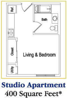 studio apartment floor plans | Studio Apartment Floor Plan