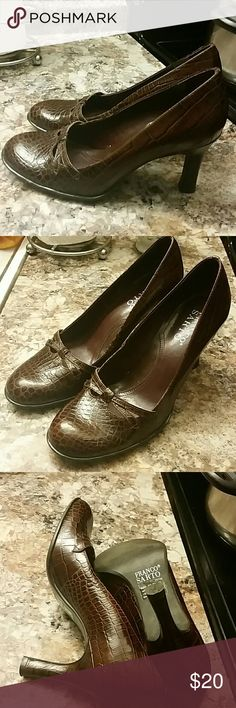 Franko Sarto shoes Super cute shoes in great condition. Made in Brazil. Leather upper, man made sole Franco Sarto Shoes